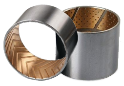 Bimetallic self-lubricating bearing type 2