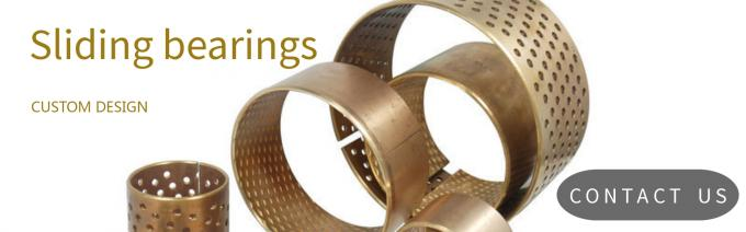 sliding bearings wrapped bronze bushing  Material CuSn8 with indented inside surface