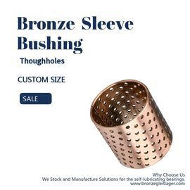 ISO Thin - Walled Split Bronze Bushings Oil Pocket Kích thước trơn